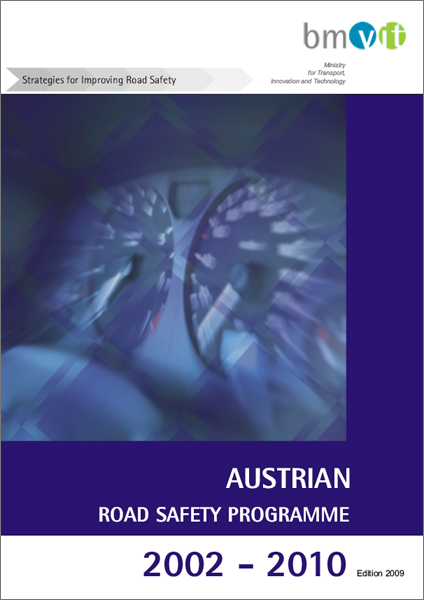Cover of the booklet of the Austrian Road Safety Prpgramme from 2002 until 2010