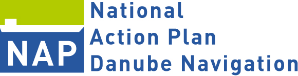 Logo of the Austrian action plan Danube navigation (NAP)