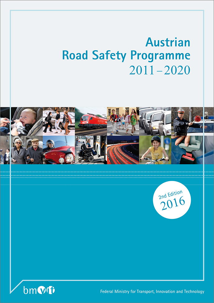 Cover of the booklet of the Austrian Road Safety Programme from 2011 until 2020