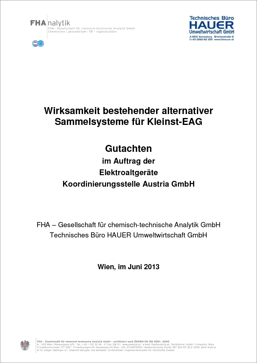 "Titelblatt ""Alternative Sammelsysteme"""